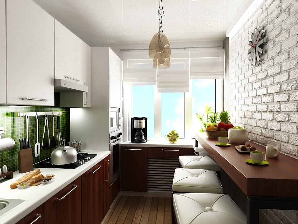 Дизайн кухни 9 кв м фото новинки