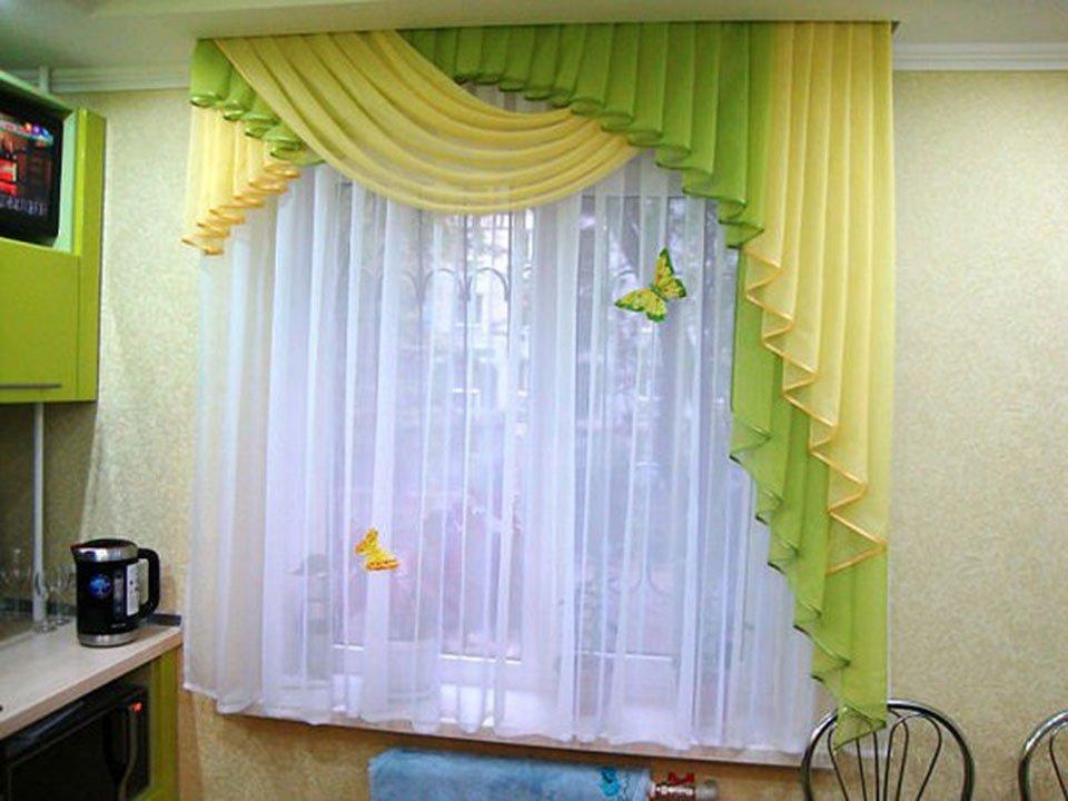 Новинки штор для кухни 80 фото идей