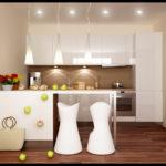 маленькая кухня гостиная дизайн интерьер