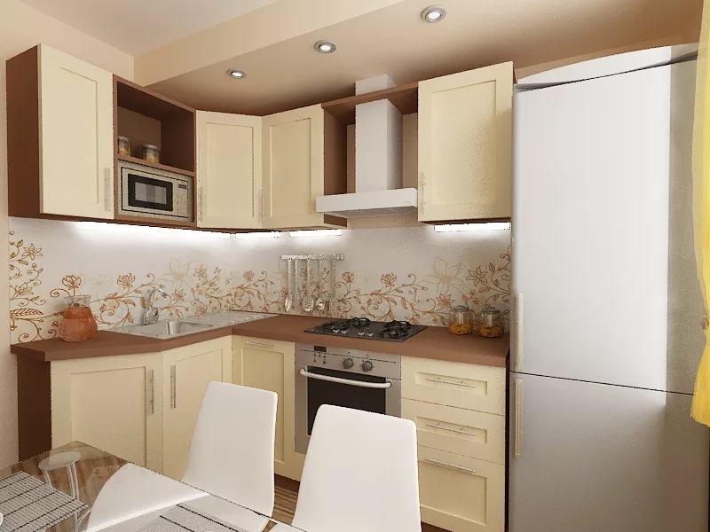 Интерьер маленькой кухни
