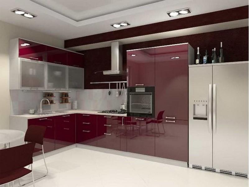 Бордовая кухня - особенности применения цвета и лучшие сочетания интерьера