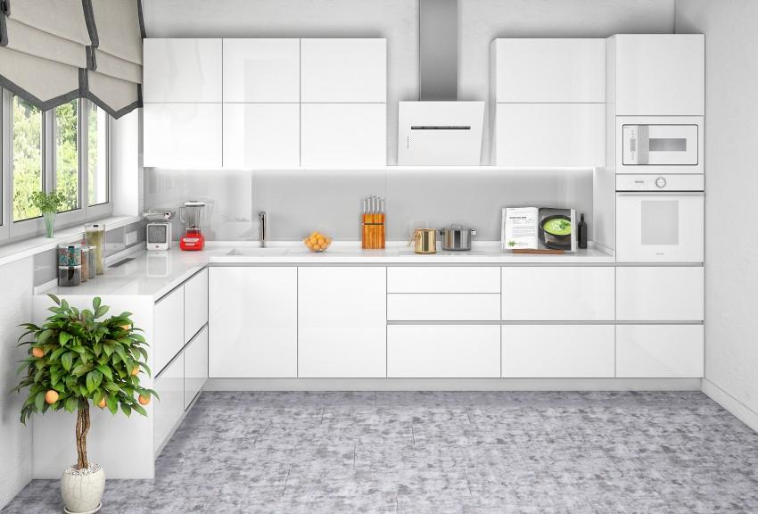 Кухня в белых цветах - современные и стильные идеи применения красивых вариантов. 120 фото новинок дизайна