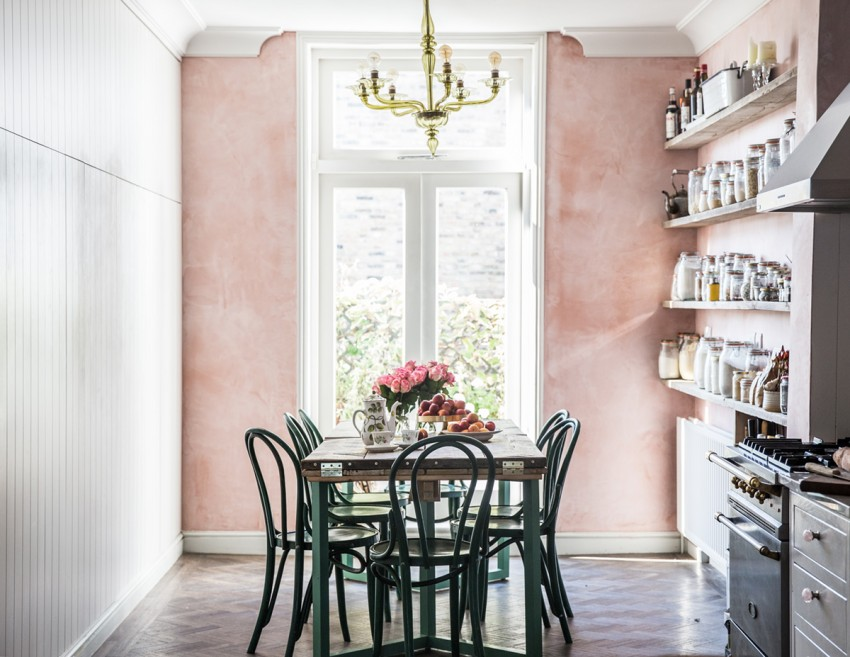 Розовая кухня - особенности применения розового цвета в кухонном интерьере