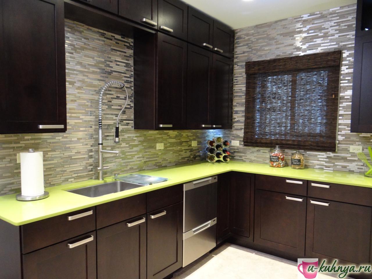 кухня в зеленом стиле