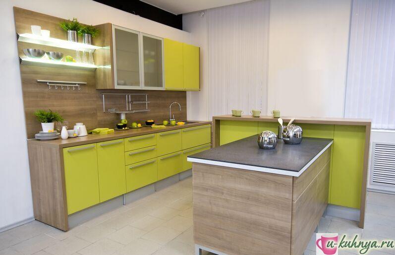 дизайн кухни в зеленых тонах