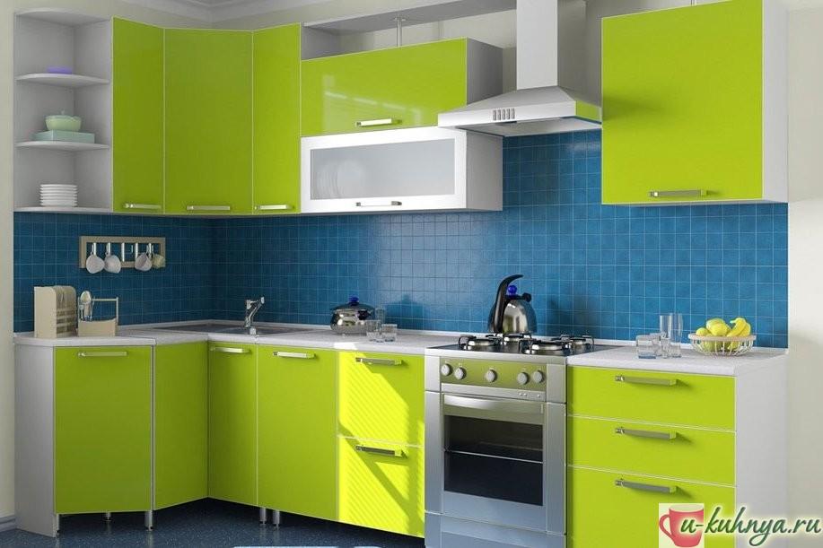сине зеленая кухня