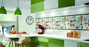 сочетание зеленого в интерьере кухни