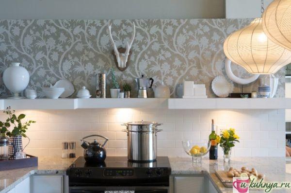 кухня какой цвет обоев