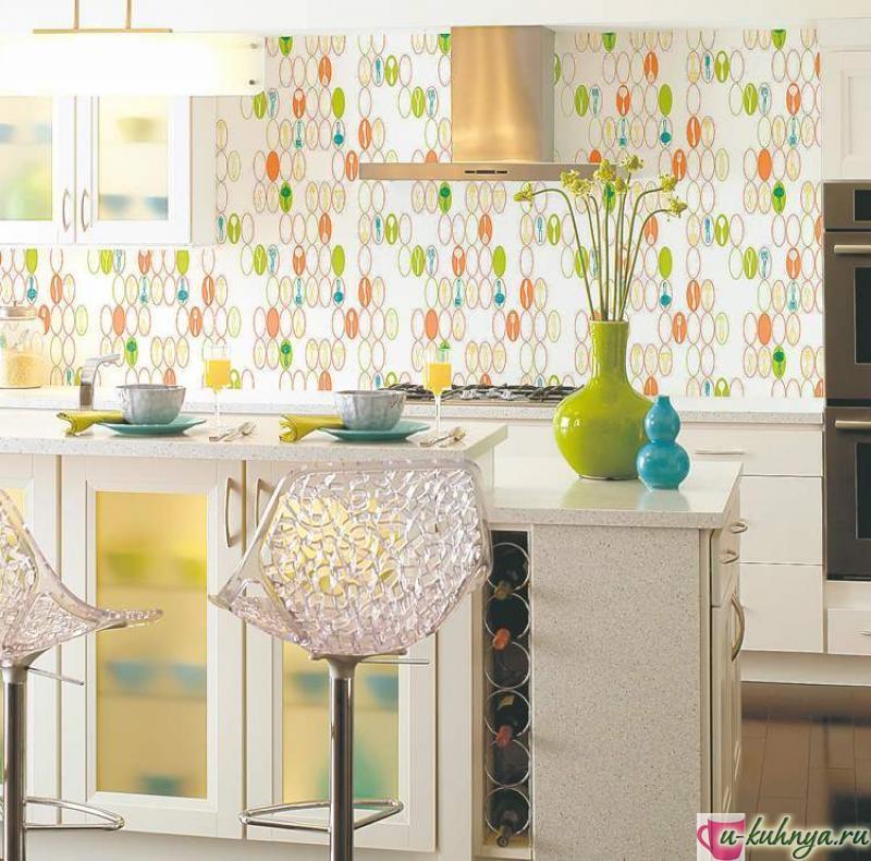 кухня обои фото дизайн