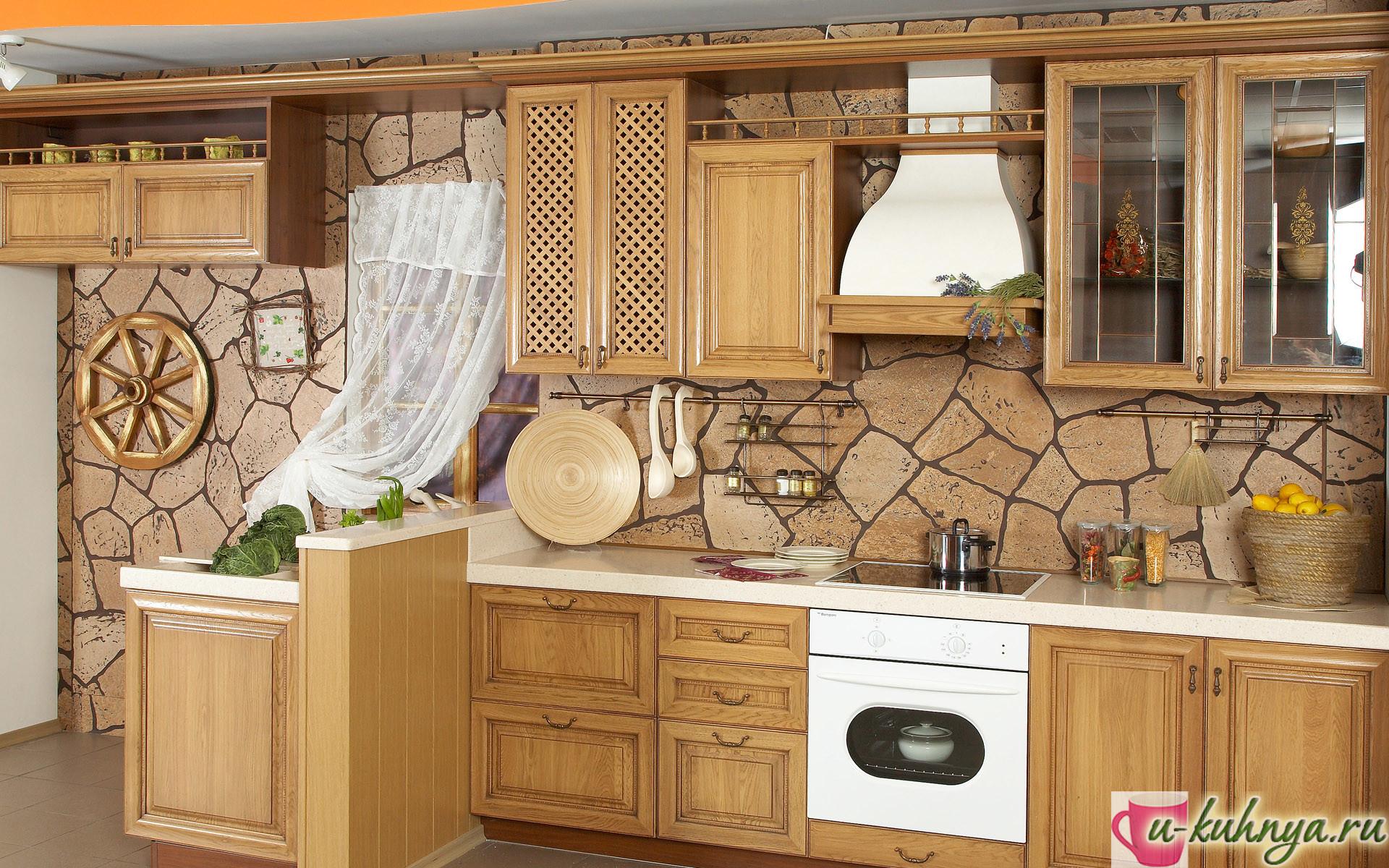 кухня под обои фото