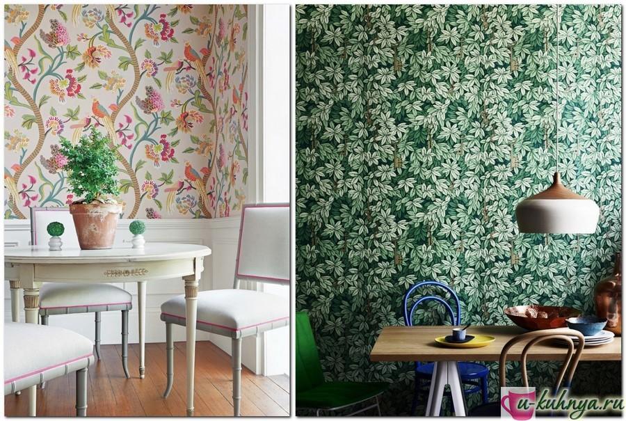 обои на кухне комбинированные дизайн фото
