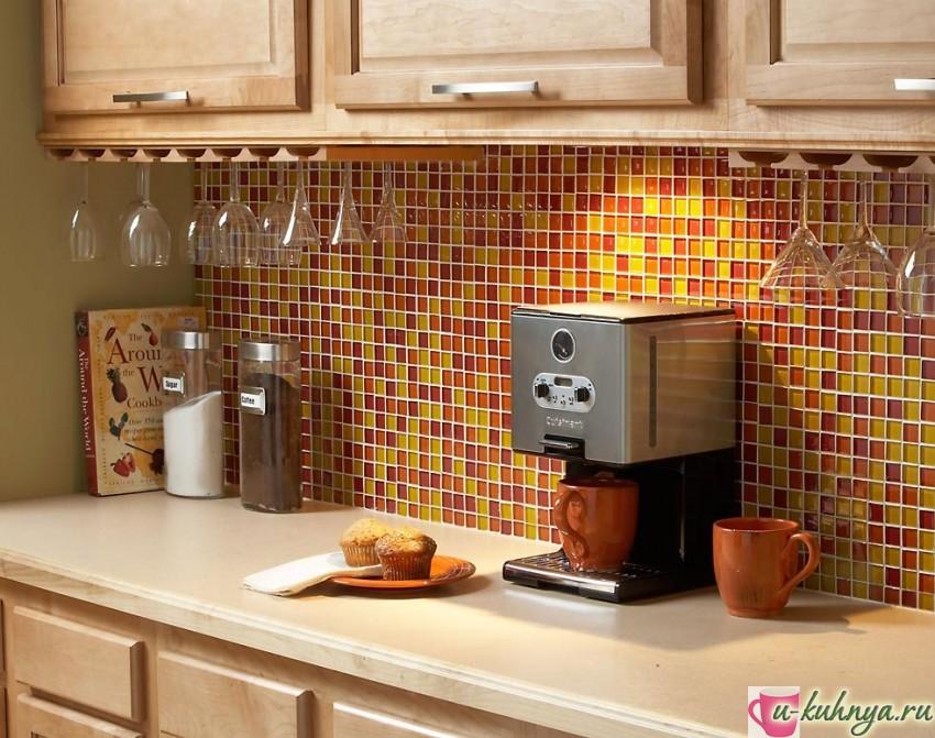 мозаика на фартук кухни