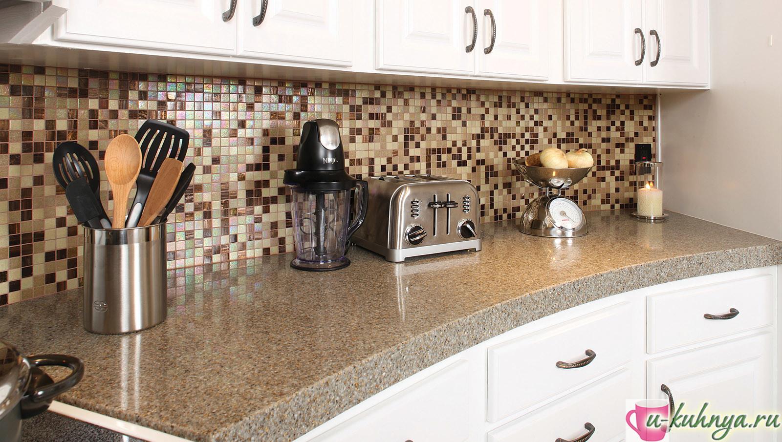 плитка мозаика для кухни на фартук