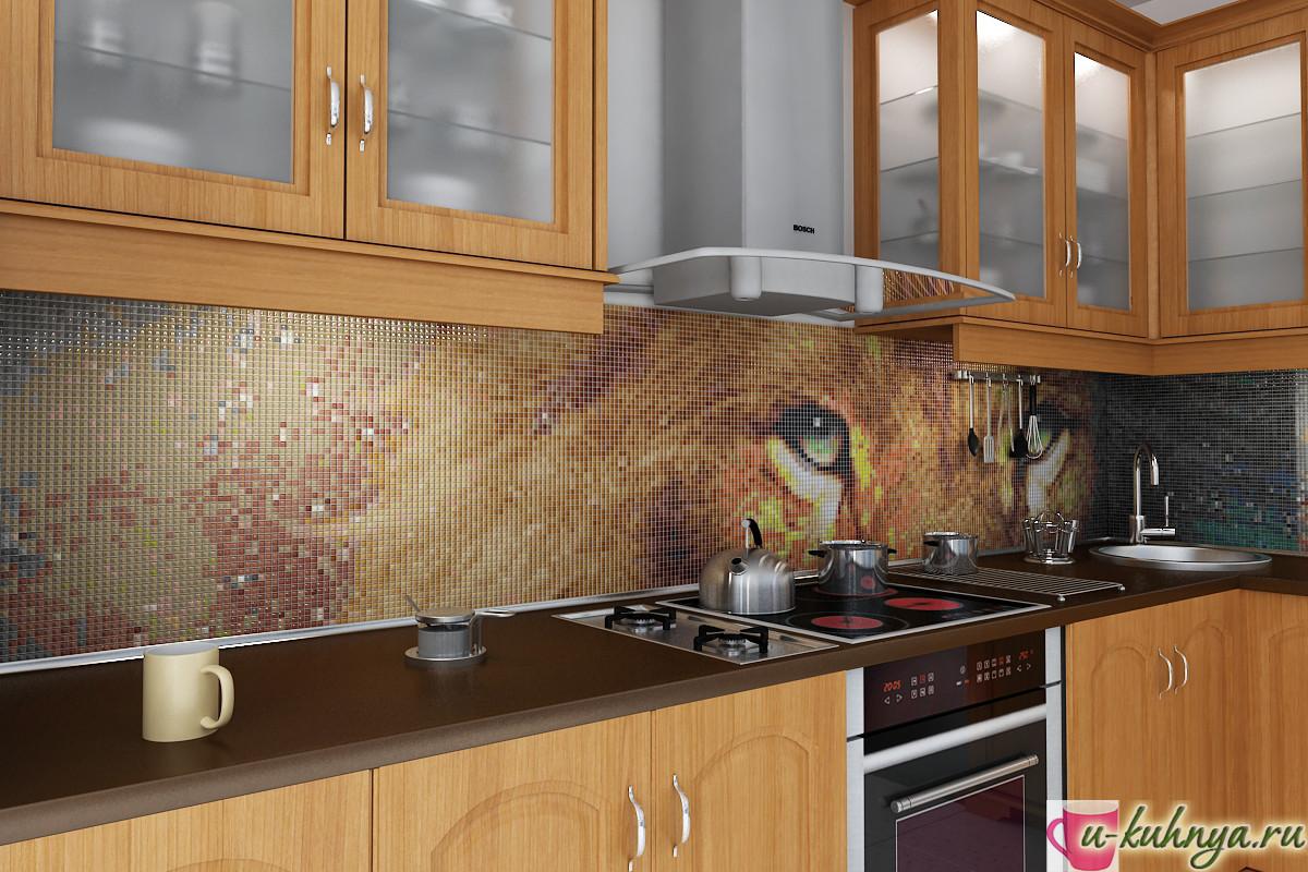 фартук для кухни под мозаику