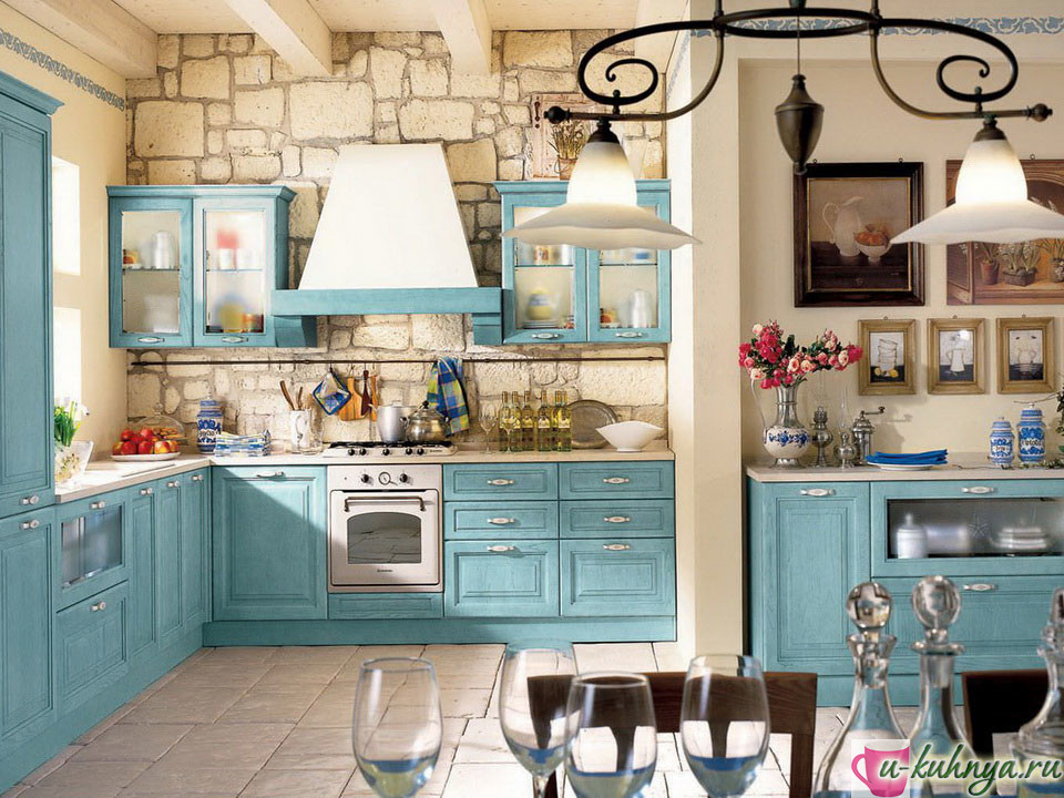 Прованс стиль в дизайне кухни