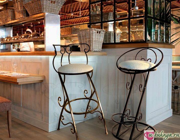 барные стулья со спинкой для кухни