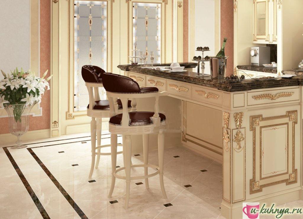 высокие барные стулья для кухни