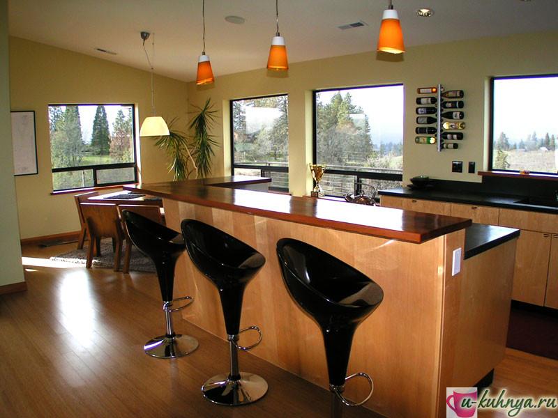 высота барных стульев для кухни
