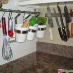 как разместить рейлинги на кухне