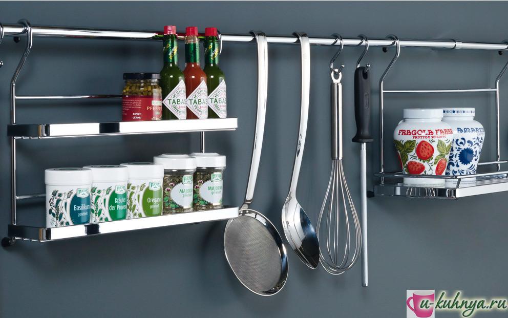 что повесить на рейлинги на кухне фото