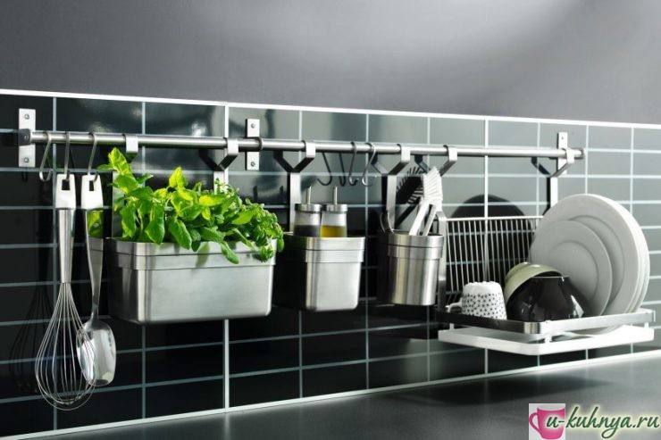 рейлинг для посуды на кухню