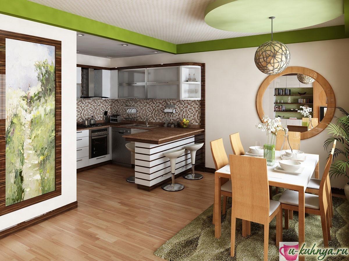 кухня столовая совмещенная