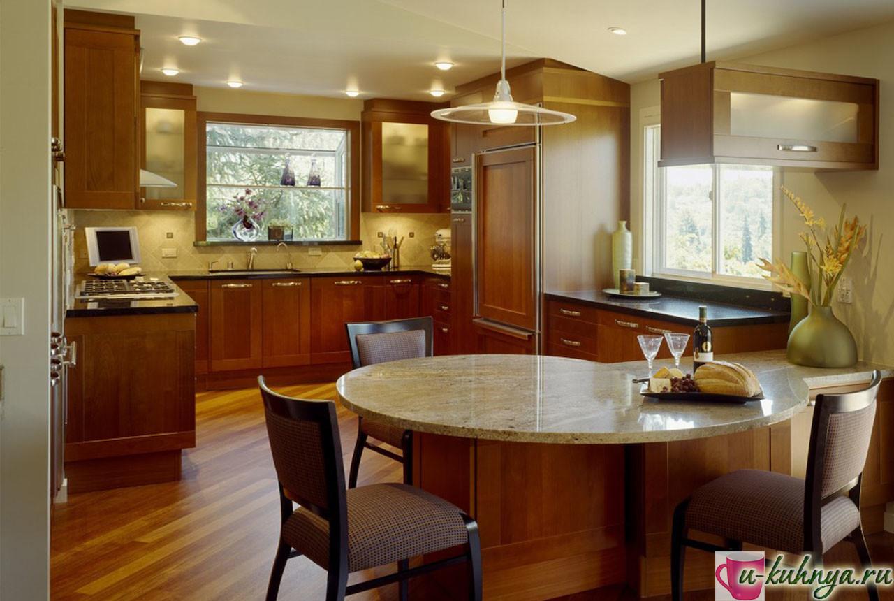 современная кухня столовая