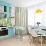 фото планировки кухни столовой