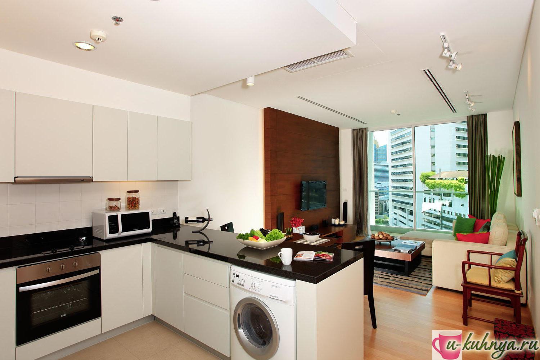 дизайн кухни столовой в доме фото