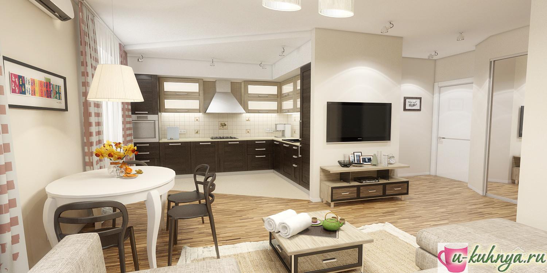 дизайн кухни столовой фото