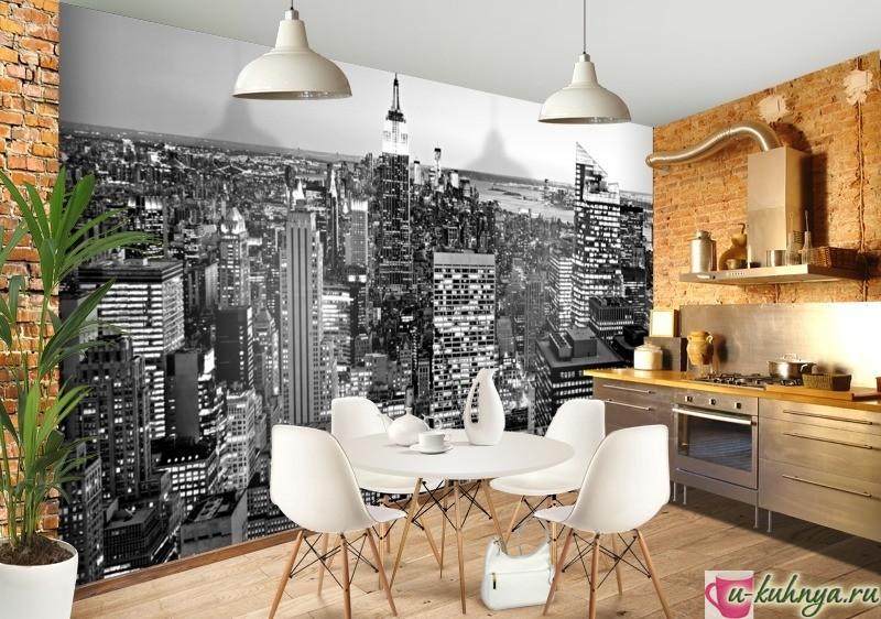 Выбор стиля для кухни и обоев на стену