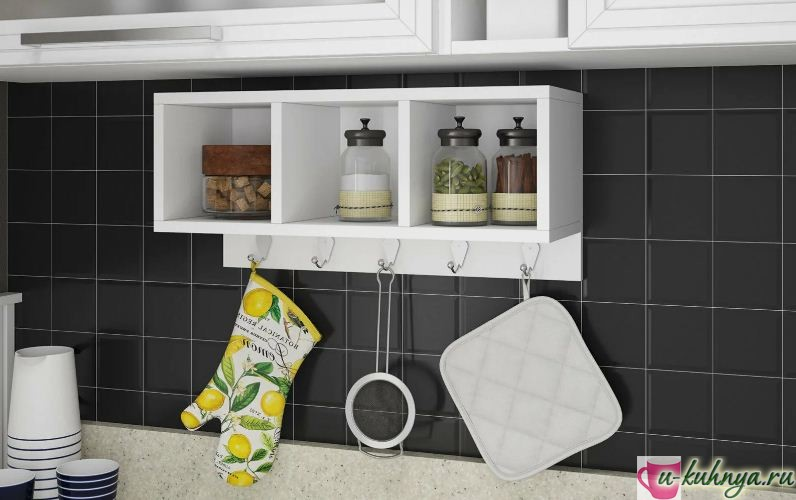 Навесные полки для кухни: удобно и практично